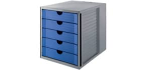 Schubladenbox Karma grau/blau Produktbild