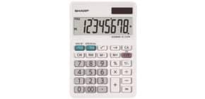 Tischrechner 8-stellig weiß SHARP SH-EL310W Produktbild