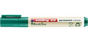 Permanentmarker 22 EcoLine 1-5mm grün EDDING 22004 Keilspitze nachfüllbar Produktbild