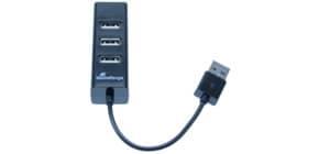 USB-Hub 2.0  1:4 schwarz MEDIA RANGE MRCS502 Produktbild