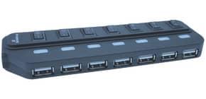 USB-Hub 2.0  1:7 schwarz MEDIA RANGE MRCS504 Produktbild