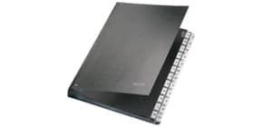 Pultordner A-Z schwarz LEITZ 58240095 24 Fächer Pappe Produktbild