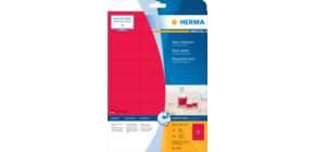 Universaletiketten 63,5x29,6 mm neonrot HERMA 5045 540 Stück permanent haftend Produktbild