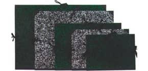 Zeichenmappe mit Bänder grün Produktbild