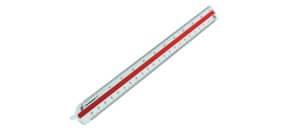 Dreikantmaßstab 30cm weiß RUMOLD 160/2 berufschul Produktbild