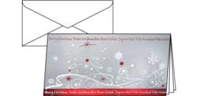 Weihnachts Design Winter Breeze SIGEL DS393 DIN lang 10+10 Stück Produktbild