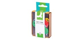 Schlüsselanhänger sortiert 4 Farben Q-CONNECT KF02036 6ST Produktbild