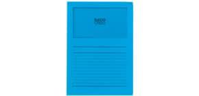 Sichtmappe Ordo A4 120g 100ST int.blau ELCO 29489.32 Classico Papier Produktbild