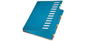 Ordnungsmappe 12teilig blau LEITZ 59120035 Karton Produktbild