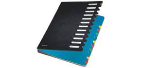 Ordnungsmappe 12teilig schwarz LEITZ 59120095 Karton Produktbild