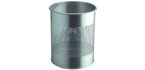 Papierkorb Stahl 14,7l silber Produktbild