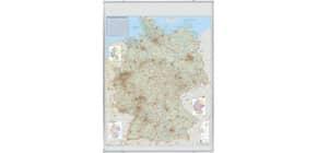 Wandtafel Straßenkarte FRANKEN KA300D magnethaft Produktbild