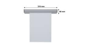 Papierklemmschiene  31cm grau FRANKEN PKS31 Produktbild