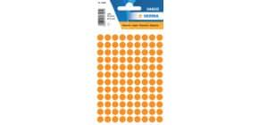 Haftetiketten D8mm l´orange Produktbild