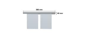 Papierklemmschiene 58cm grau FRANKEN PKS58 Produktbild