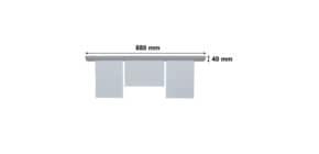Papierklemmschiene  88cm grau FRANKEN PKS88 Produktbild