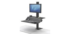 Bildschirmträger Sitz/Steh schwarz FELLOWES FW8080101 für1Monitor Produktbild