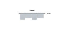 Papierklemmschiene  118cm grau FRANKEN PKS118 Produktbild