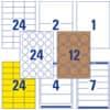 Universaletiketten Office&Home sortiert AVERY ZWECKFOM 49300 Produktbild Einzelbild 4 S