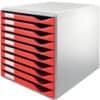 Schubladenbox 10 Laden rot LEITZ 5281-00-25 Produktbild