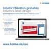 Universaletiketten 70x36 weiß HERMA 4453 Produktbild Detaildarstellung 4 S