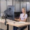Bildschirmträger Doppelarm schwarz FELLOWES FW8043401 Produktbild Anwendungsdarstellung S