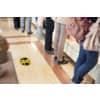 Bodenaufkleber DM 35cm gelb-schwarz 2,0m 2 St. für glatte Böden TARIFOLD T197857 Produktbild Anwendungsdarstellung 1 S