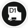 Schriftband 12mmx7m schw/weiß DYMO S0720530 45013 Produktbild Piktogramm S