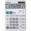 Tischrechner 12-stellig weiß SHARP SH-EL340W DualPower Produktbild