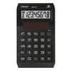 Öko-Taschenrechner Eco10 schw. REBELL 802358 8stellig 118x70x13mm Produktbild