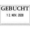 Datumsstempel Gebucht 4mm COLOP 04060L3 45x30mm Produktbild Einzelbild 2 S