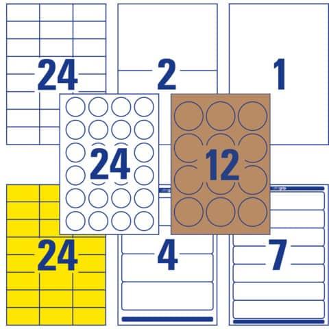 Universaletiketten Office&Home sortiert AVERY ZWECKFOM 49300 Produktbild Einzelbild 4 XL