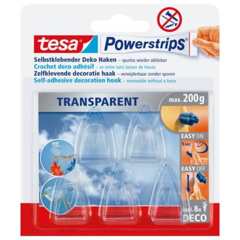 Power Strips Deco Haken transp TESA 58900-13 5ST+8STRIPS Produktbild Einzelbild 2 XL