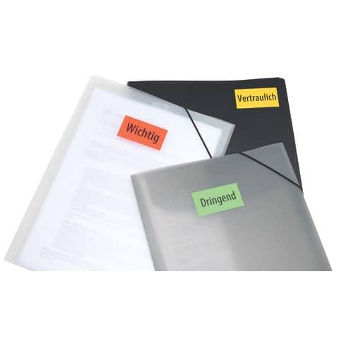 Universaletiketten 70x37 gelb HERMA 4406 100 Blatt Produktbild Anwendungsdarstellung 3 XL