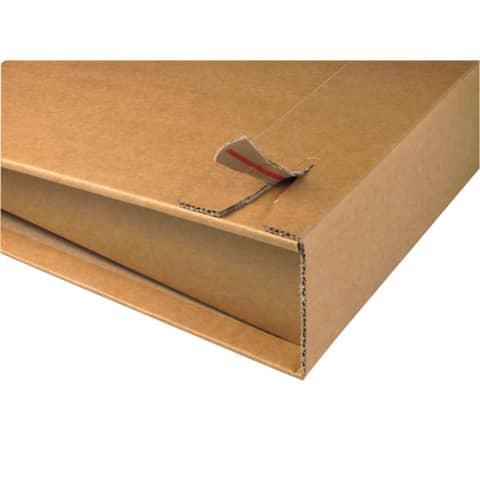 Versandkarton f.A4 Ordner CP05001 braun COLOMPAC 30000255 320x290x35-80mm Produktbild Einzelbild 4 XL