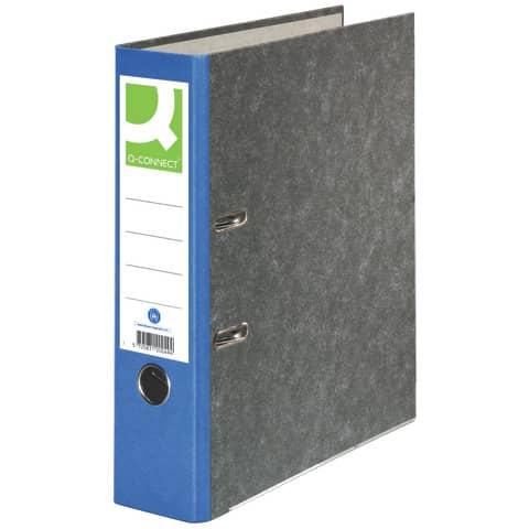Ordner Pappe A4 80mm blau Q-CONNECT KF18711/15063422000 Produktbild
