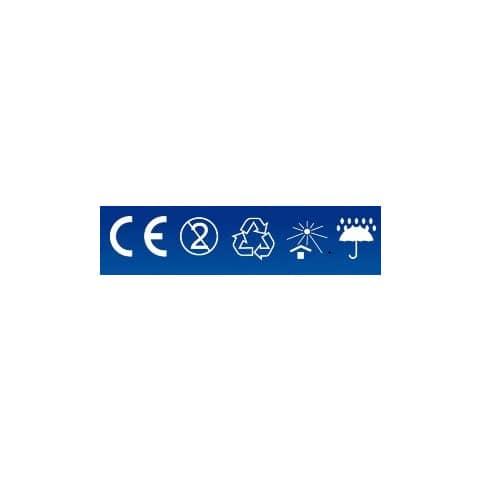 Mund- und Nasenschutzmaske  blau/weiß VANCH KZ001 BFE95% EN14683 Produktbild Einzelbild 3 XL