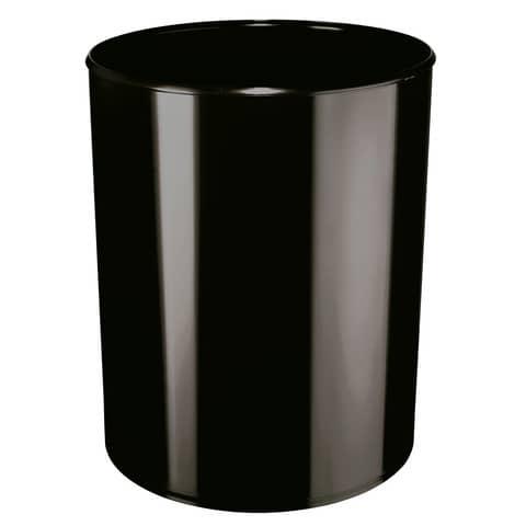 Papierkorb rund schwarz HAN 1818-S-13 20l m.Alueinsatz Produktbild Einzelbild 1 XL