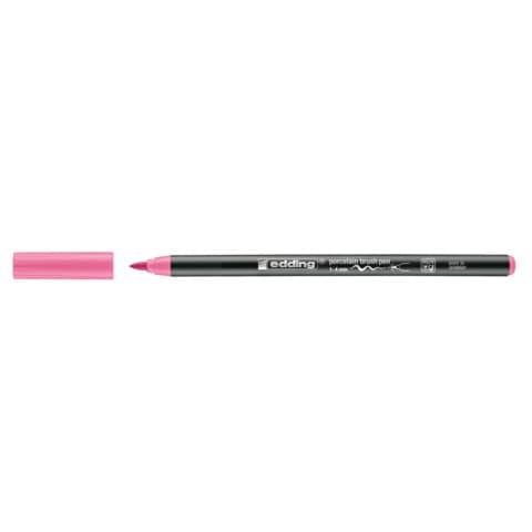 Porzellanmalstift Brushpen rosa EDDING 4200 009 Produktbild Einzelbild 3 XL