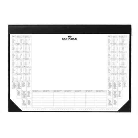 Schreibunterlage mit Block schwarz DURABLE 7291 01   59x42 cm Produktbild