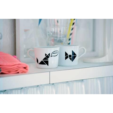 Porzellanmalstift Brushpen rosa EDDING 4200 009 Produktbild Anwendungsdarstellung 1 XL