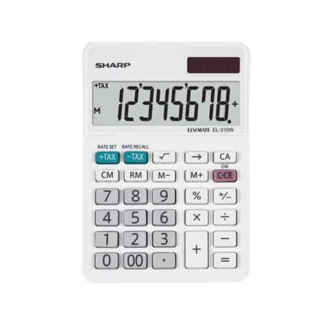 Tischrechner 8-stellig weiß SHARP SH-EL310W Produktbild Einzelbild 1 XL