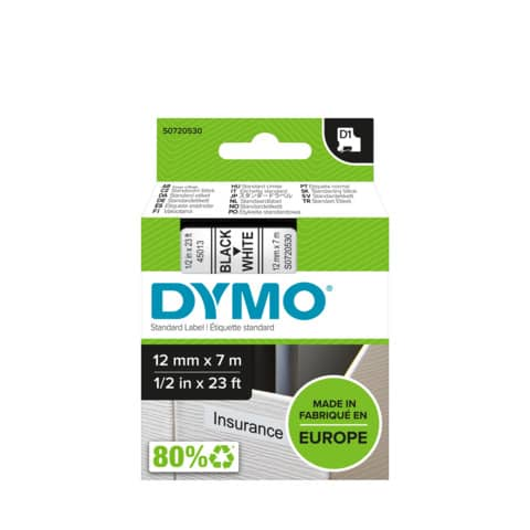 Schriftband 12mmx7m schw/weiß DYMO S0720530 45013 Produktbild Anwendungsdarstellung XL