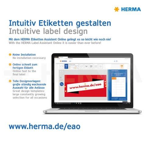 Universaletiketten 70x36 weiß HERMA 4453 Produktbild Detaildarstellung 4 XL