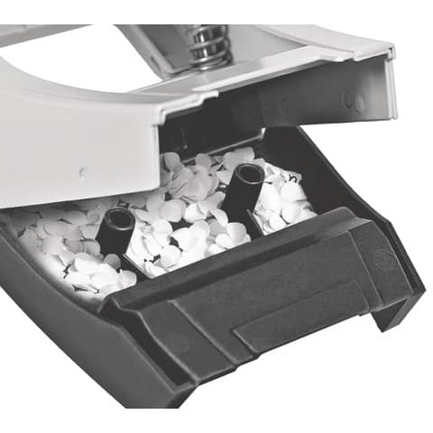Locher NeXXt Style arktik weiß LEITZ 5006-00-04 m. AS Produktbild Anwendungsdarstellung XL