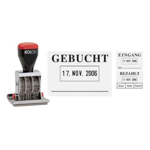 Datumsstempel Gebucht 4mm COLOP 04060L3 45x30mm Produktbild Stammartikelabbildung XL