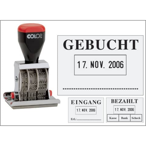 Datumsstempel Gebucht 4mm COLOP 04060L3 45x30mm Produktbild Stammartikelabbildung 2 XL
