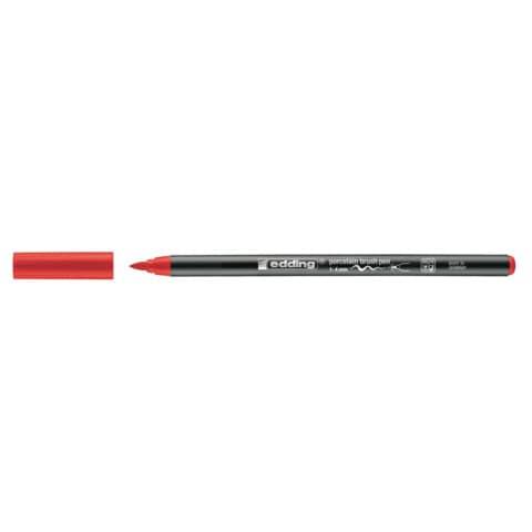 Porzellanmalstift Brushpen rot EDDING 4200 002 Produktbild Einzelbild 3 XL