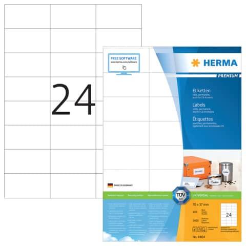Universaletiketten 70x37mm weiß HERMA 4464 2400 Stück permanent haftend Produktbild Einzelbild 2 XL