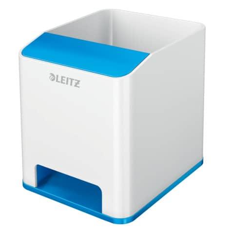 Stifteköcher WOW Sound weiß/blau met. LEITZ 5363-10-36 Duo Colour Produktbild